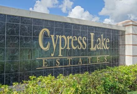 Cypress Lake Estates Entrance