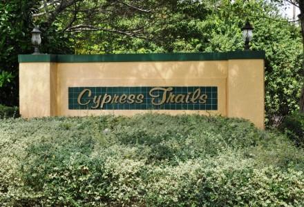 Cypress Trails Community Lake Worth Entrance