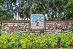 Cypress Woods Community Lake Worth FL Sign Picture