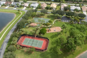Cypress Woods Lake Worth Clubhouse Aerial