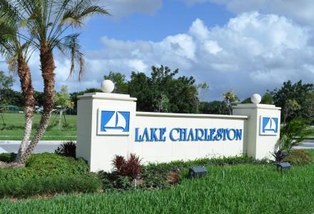 Lake Charleston Community Entrance