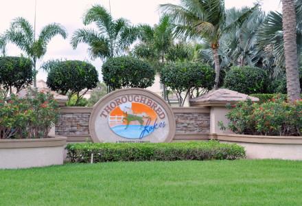 Thoroughbred Lake Estates Community Lake Worth FL Entrance Picture